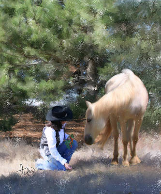 Cowgirl And Cowboy Painting - Sugar N Spice by Colleen Taylor