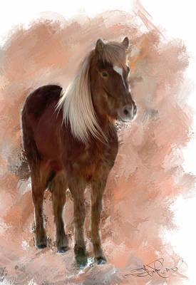 Icelandic Horse Painting - Sugar Pie Honey Bunch by Donald Pavlica