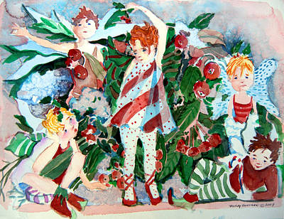Sugar Plum Fairies Art Print by Mindy Newman