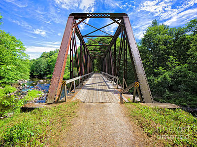 Photograph - Sugar River Train Bridge by Edward Fielding
