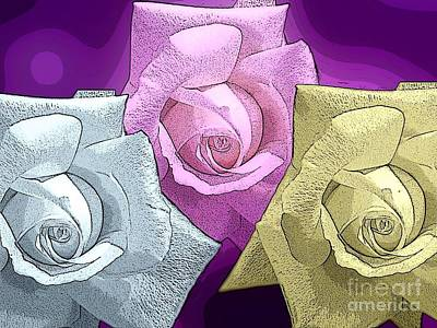 Photograph - Sugar Roses 2 by Joan-Violet Stretch