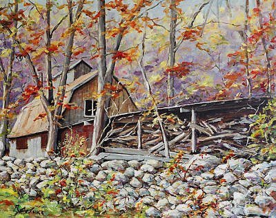 Quebec Painting - Sugar Shack Beauce Quebec by Richard T Pranke
