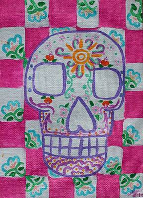Painting - Sugar Skull by Amy Gallagher