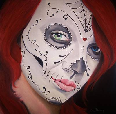 Sugar Skull Girl #1 Original by Brian Broadway