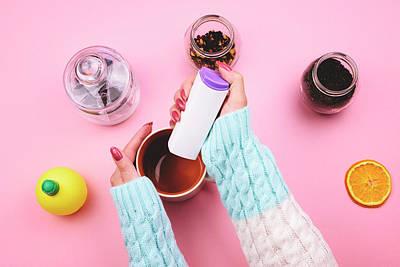 Pill Mixed Media - Sugar Substitute by Ekaterina Taraikovskaia