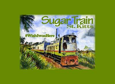 Painting - Sugar Train St. Kitts Shirt by John D Benson