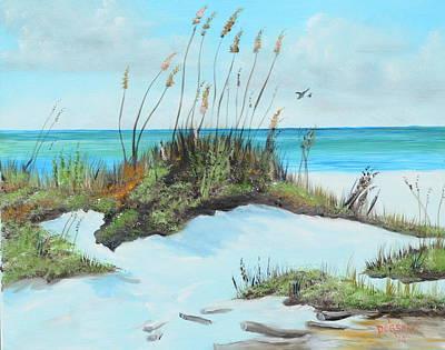 Sugar White Beach Art Print by Lloyd Dobson