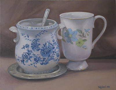 Painting - Sugarbowl And Teacup by Suzn Art Memorial