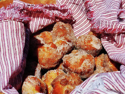Donuts Photograph - Sugared Donut Holes by Susan Savad