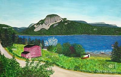 Painting - Sugarloaf Hill From The Cove by Barbara Griffin
