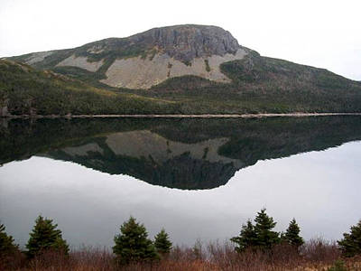 Art Print featuring the photograph Sugarloaf Hill Reflections by Barbara Griffin