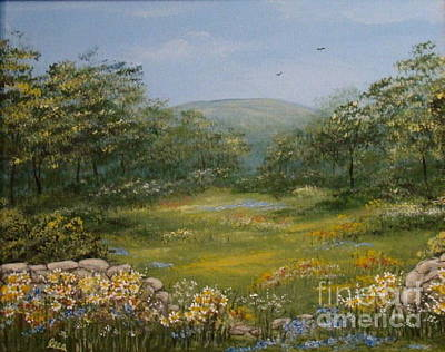 Painting - Sugarloaf Meadow by Leea Baltes