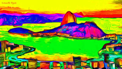 Sugarloaf Of Rio 200 - Pa Art Print