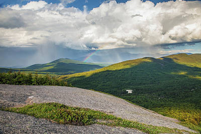 Photograph - Sugarloaf Rainbow Storm by Chris Whiton