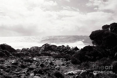 Photograph - Sugarloaf Rock Beach Monochrome  by Cassandra Buckley