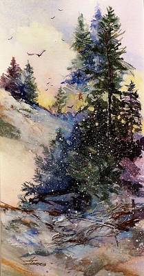 Mixed Media - Sugarpines by Helen Harris
