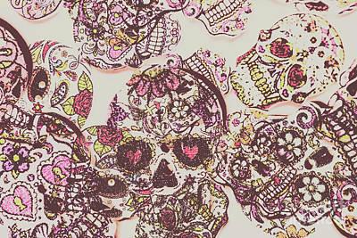 Bone Wall Art - Photograph - Sugarskull Punk Patchwork by Jorgo Photography - Wall Art Gallery