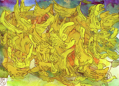 Painting - Suggesting An Imaginal Pageantry by Terrance DePietro