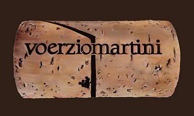 Italian Wine Painting - Sughero by Danka Weitzen