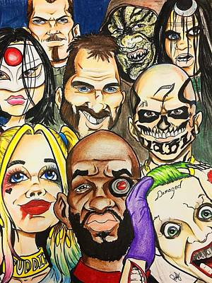 Crocks Drawing - Suicide Squad Caricature by Trinket Elliott