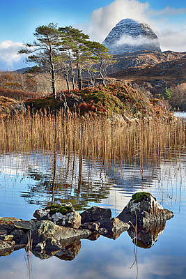 Photograph - Suilven From Loch Druim Suardalain by Chris Puddephatt