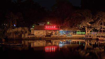Photograph - Suisan Fish Market At Night by Susan Rissi Tregoning