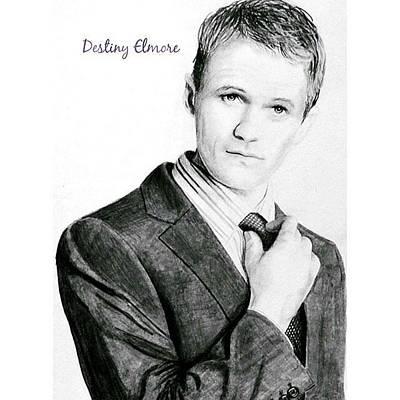 Neil Patrick Harris Drawing - Suit Up by Destiny Elmore