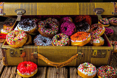 Suitcase Full Of Donuts Art Print by Garry Gay
