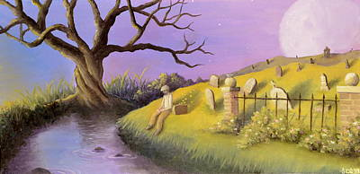 Cemetary Painting - Suitcase Of Sparks by Sarah Quandt