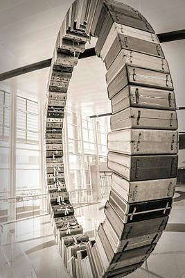 Photograph - Suitcase Wheel by Sennie Pierson