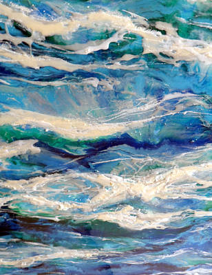 Epoxy Resin Painting - Suite Madam Blue 2 by Jane Biven