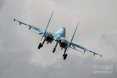 Sukhoi Digital Art - Sukhoi Su-27 Flanker by J Biggadike