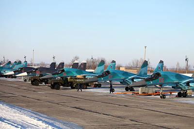 Airplane Digital Art - Sukhoi Su-34 by Maye Loeser