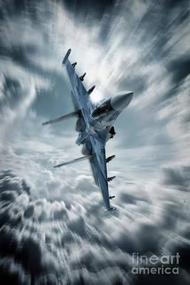 Sukhoi Digital Art - Sukhoi Su35 by J Biggadike