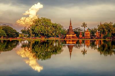 Sukhothai Park Art Print by Maria Coulson