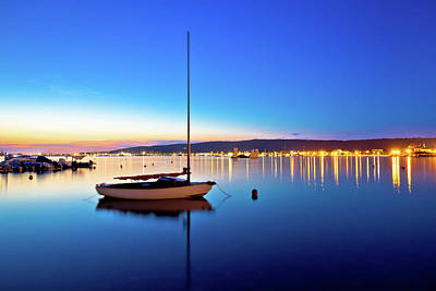 Photograph - Sukosan Waterfront And Calm Sea Evening View by Brch Photography