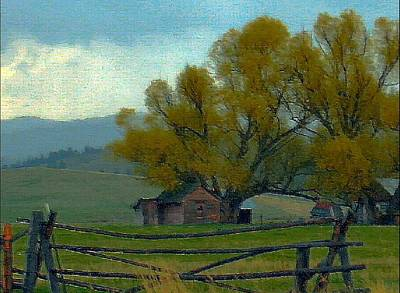 Sula Montana Homestead Art Print