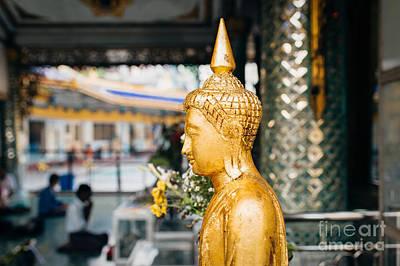 Photograph - Sule Pagoda Buddha by Dean Harte