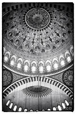 Suleymaniye Ceiling Art Print by John Rizzuto