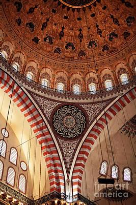 Suleymaniye Interior Art Print by John Rizzuto