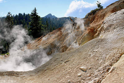 Steam Photograph - Sulfur Works In Lassen Volcanic Park by Christine Till