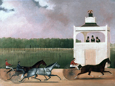 Sulkies Photograph - Sulky Race by Granger