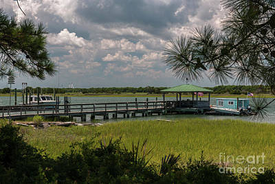 Photograph - Sullivan's Island Boat House by Dale Powell