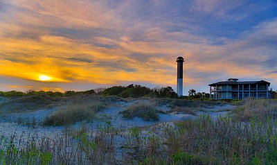 Photograph - Sullivan's Island Lighthouse At Dusk - Sullivan's Island Sc by Donnie Whitaker