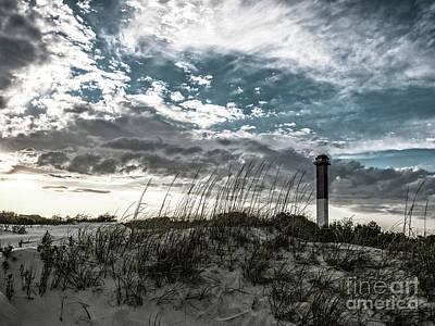 Photograph - Sullivan's Island Lighthouse Bleach Bypass by Dale Powell
