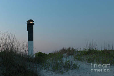 Photograph - Sullivan's Island Lighthouse In Charleston South Carolina by Dale Powell