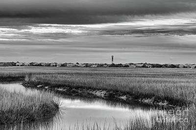 Photograph - Sullivan's Island Lighthouse Lowcountry Marsh by Dale Powell