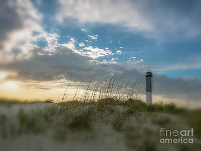 Photograph - Sullivan's Island Lightouse Vignitte Blur by Dale Powell
