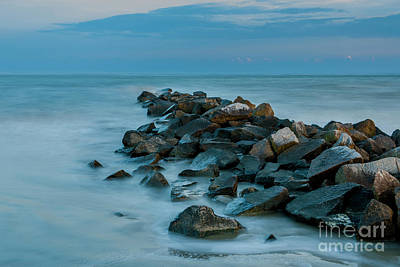 Photograph - Sullivan's Island Rock Jetty by Dale Powell