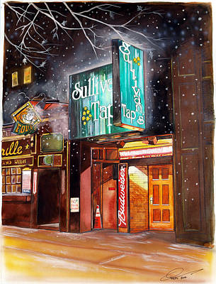 Basketball Painting - Sullivan's Tap by Dave Olsen